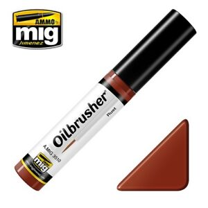 Ammo-of-Mig-A-MIG-3510-Oilbrusher-Rust-Oil-Paint-Brush-System-10ml