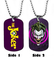 DOG TAG NECKLACE - The Joker 1 Batman Villian Superhero Comic Book Art