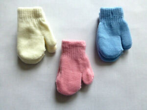 Baby-Mittens-Mitts-knitted-with-warm-lining-Boys-amp-Girls-Unisex