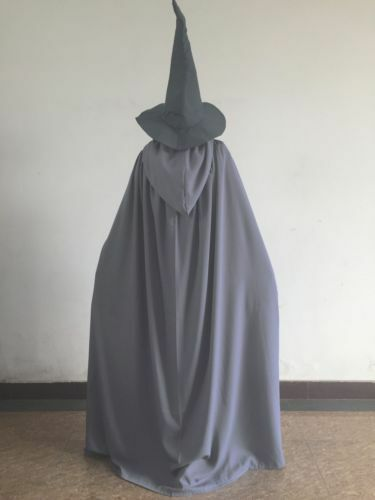 Lord of the Rings Gandalf Wizard Halloween Cosplay Costume Mens Fancy Outfit