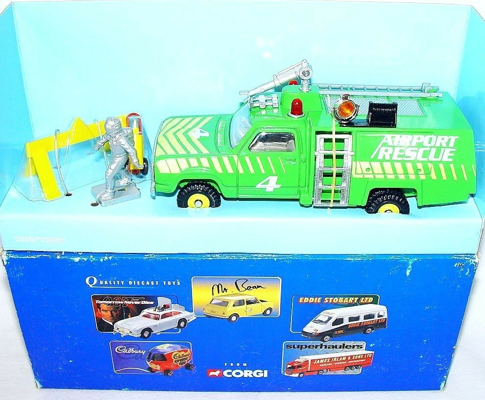 Corgi Toys Working 1 36 ANGUS FIRE TENDER  AIRPORT RESCUE  Model Car MIB`00 RARE