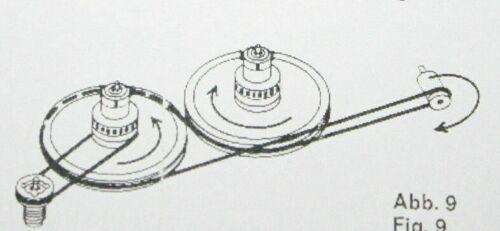 3 tlg Riemensatz für 1.Version Uher Compact Report Stereo CR-124 CR-134 Belt-Kit