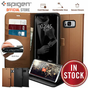 buy popular 27694 ac166 Details about Galaxy S8 Plus/S8 case,Genuine SPIGEN Stand Flip View Wallet  S Cover for Samsung