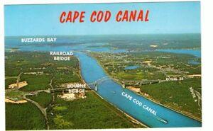 Undated-Unused-Postcard-Aerila-View-Cape-Cod-Canal-Massachusetts-MA