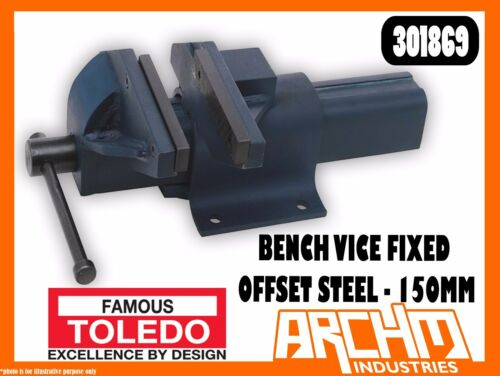 TOLEDO 301869 BENCH VICE FIXED BASE OFFSET STEEL 150MM