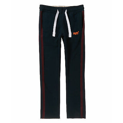 New Mens Superdry Classic Fives Joggers Eclipse Navy