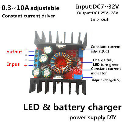 DC 10A CV Constant Current Step Down Regler LED Power Supply Battery Charger