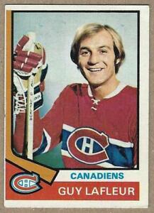 1974-75 Topps GUY LAFLEUR Topps Card #232 - GOOD CONDITION - Hall of Famer