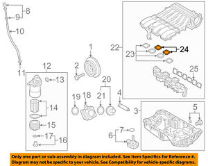 vw volkswagen oem 11 17 touareg engine intake manifold gasket rh ebay com 2004 Volkswagen Passat Engine Diagram VW 1.8 Engine Diagram