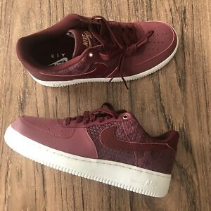 Nike Air Force 1 '07 LV8 Port Dark Team Red 823511 602 New