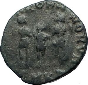 ARCADIUS-388AD-Authentic-Ancient-Roman-Coin-Three-emperors-with-spears-i73498