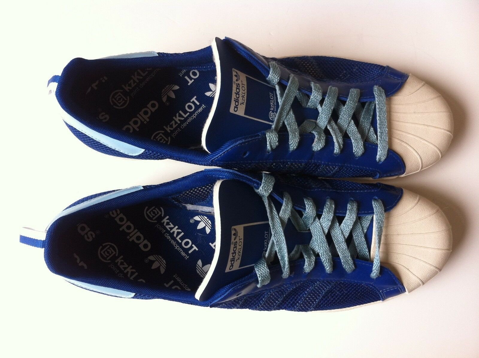 ADIDAS ADIDAS ADIDAS Kazuki  SUPERSTARS 1980 S CLOT G63523 blueE WHITE US 12 UK 11.5 EUR 46 2 3 1571d2