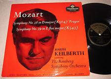 Mozart Symphony 38 & 39 Keilberth Bamberg LP Telefunken LGX 66054 UK MONO 1950's
