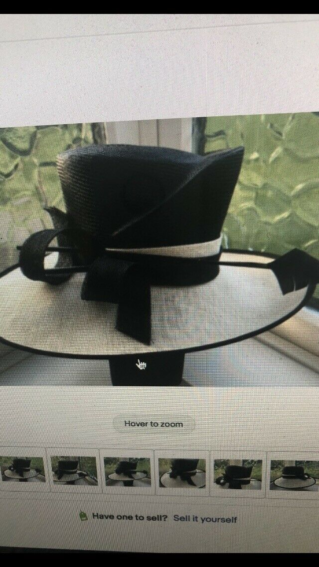 Beautiful Black And Cream Hat By Gold