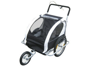 JOGGER-BIKE-TRAILER-CHILD-KIDS-BIKE-BICYCLE-STROLLER-CONVERTIBLE-FOR-2-KIDS