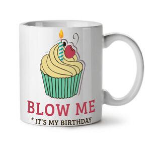 Blow Me Funny NEW White Tea Coffee Mug 11 oz | Wellcoda