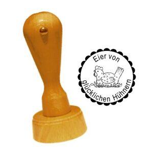 Bauernhof Stempel « Eier Von Glücklichen Hühnern 08 » Hühner Henne Legehenne Hühnerhof Ei