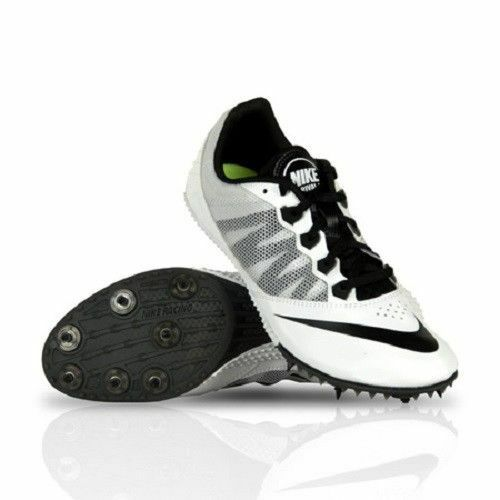 NWOB NIKE ZOOM RIVAL S 7 MEN'S TRACK SPIKES Black White 616313-170 Sz 13
