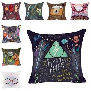 Harry Potter Baumwolle Leinen Kissenbezug Sofa Kissen Überwurf Kissenbezug Home
