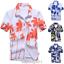 Mens-Hawaiian-T-Shirt-Summer-Floral-Printed-Beach-Short-Sleeve-Tops-Blouse-Hot thumbnail 1