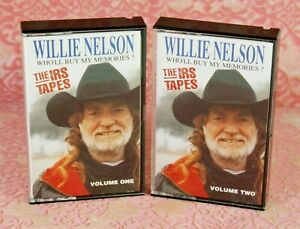 Willie Nelson The IRS Tapes Cassettes Who'll Buy My Memories Vol 1 & 2 Sony