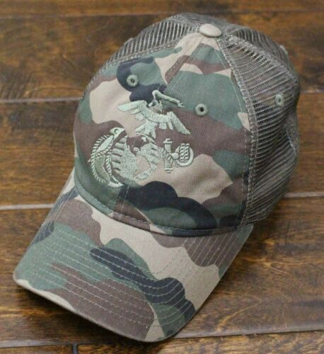 USMC United States Marine Corps EGA Eagle Globe /& Anchor Mesh Hat Camo