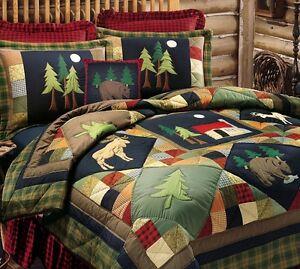 TIMBERLINE ** King ** QUILT SET : LODGE MOOSE BEAR DEER MOUNTAIN ... : moose lodge quilt set - Adamdwight.com