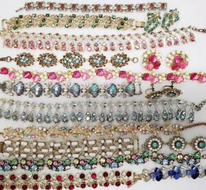 Large Vintage Jewelry Lot Pounds Earrings Rhinestones Wear Sell Craft Clearance Ebay