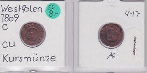 120583 Mild And Mellow 1 Centimes Kupfer Münze Westfalen 1809 C