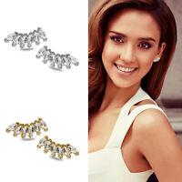 1 Pair Fashion Women Lady Girls Elegant Crystal Rhinestone Ear Stud Earrings