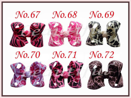 """100 BLESSING Good Girl 2.5-3.25/"""" Boutique Hair Bows Clip 3 Styles 420 No."""
