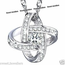 BLACK FRIDAY DEALS - 925 Silver Crystal Diamond Necklace Xmas Gifts For Her Wife
