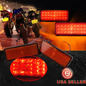 2pcs-Motorcycle-Truck-12V-Red-24-SMD-LED-Reflector-Tail-Brake-Stop-Marker-Light