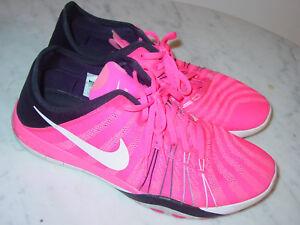c547e09c11e1 2015 Womens Nike Free TR 6 Pink Blast Black White Running Shoes ...