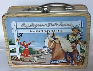 VINTAGE 1954 ROY ROGERS & DALE EVANS DOUBLE R BAR RANCH METAL LUNCHBOX LUNCH BOX
