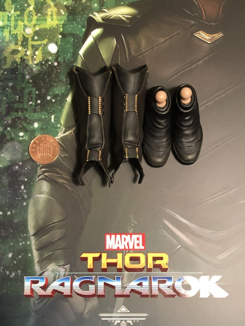 Hot Toys Thor Ragnarok Loki MMS472 Tall Boots & Foot Pegs loose 1 6th scale