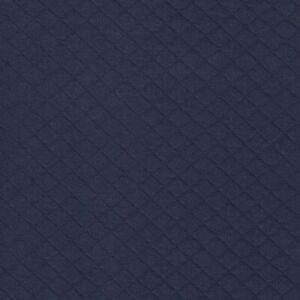 Matelassé Coton Doux Jersey Sweat - Marine 26 - Tissu Tricoté Fabrication de
