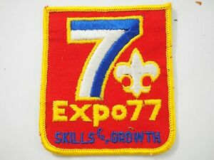 Boy-Scouts-America-BSA-Expo-77-Skills-for-Growth-Cloth-Patch-1977