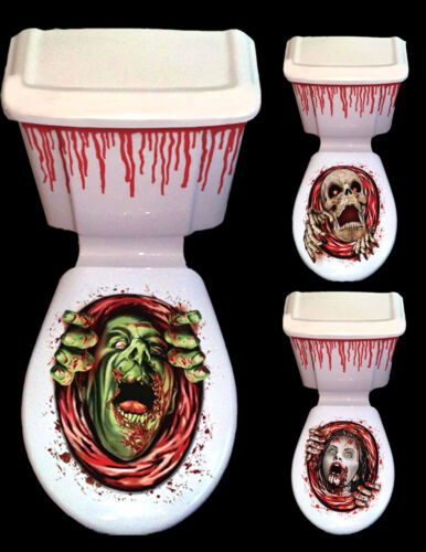 HALLOWEEN TOILET SEAT GRABBER COVER SCARY PARTY DECORATION HORROR SCARE CISTERN