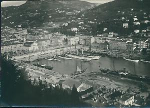 France-Nice-vue-du-port-Vintage-citrate-print-Tirage-citrate-8x11-1890