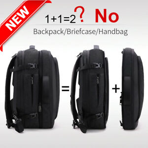 Details About Disassemble Multifunction 17 Inch Laptop Backpack Men Travel Bag School