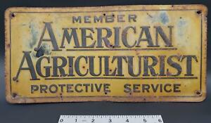 1941-American-Agriculturist-Protective-Service-Member-Embossed-Tin-Sign