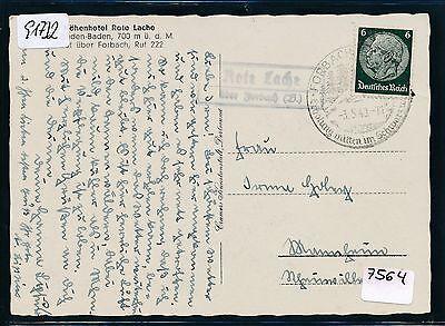b. Ak Hotel 1940 Niedriger Preis Angemessen 91732 Dr > Brd Landpost Ra2 Rote Lache über Forbach