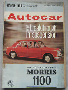 Autocar-magazine-17-8-1962-featuring-Morris-1100-road-test-Ruddspeed-Volvo-122