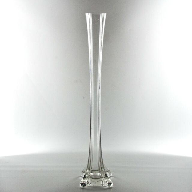 Wgv Clear Eiffel Tower Glass Vase 16 Inch Set Of 12 C0616111715 Ebay