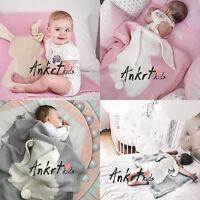 Rabbit Sofa Blanket Super Soft Warm Hand Crocheted Knitting Wool For Baby Xn