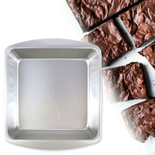 CLASSIC STEEL BAKING TRAYS Small-Large Square Rectangle Cake Cookie Brownies Tin