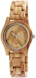 Excellanc-Damenuhr-Holz-Braun-Analog-Quarz-Armbanduhr-X1800156001