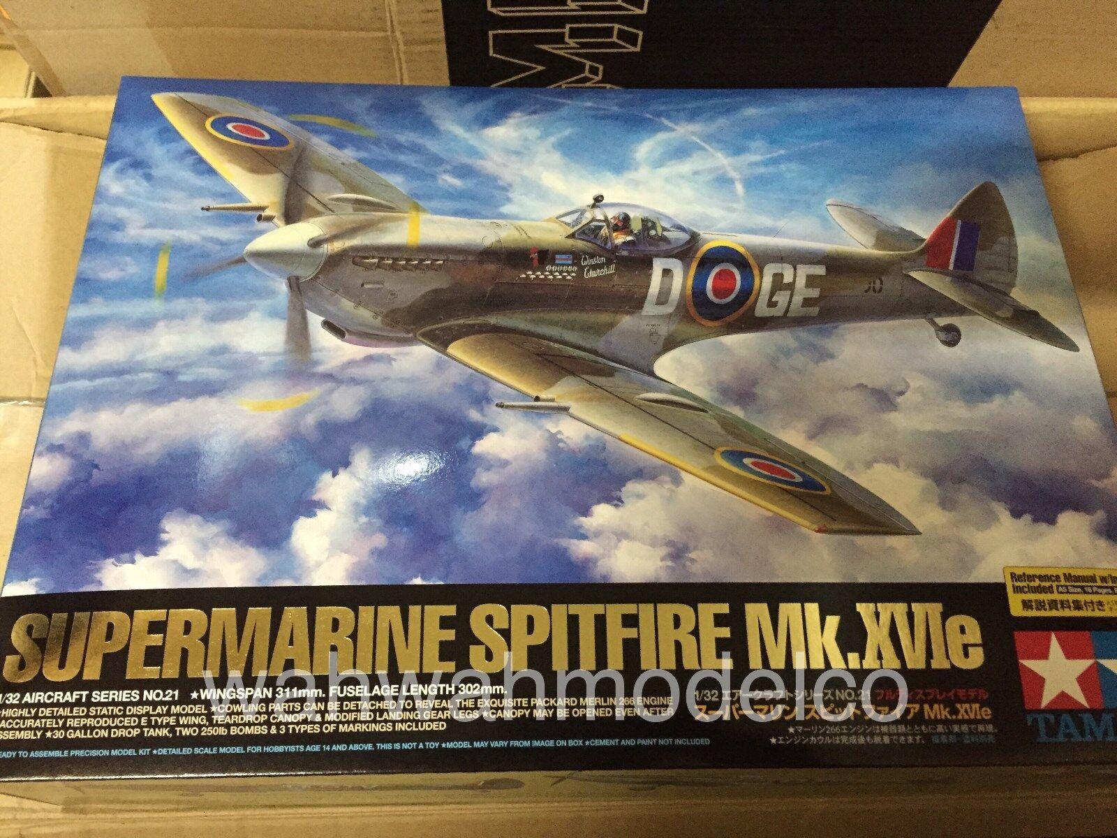 Tamiya Aircraft Model 1 32 Airplane Supermarine Spitfire Mk XVIe Hobby 60321