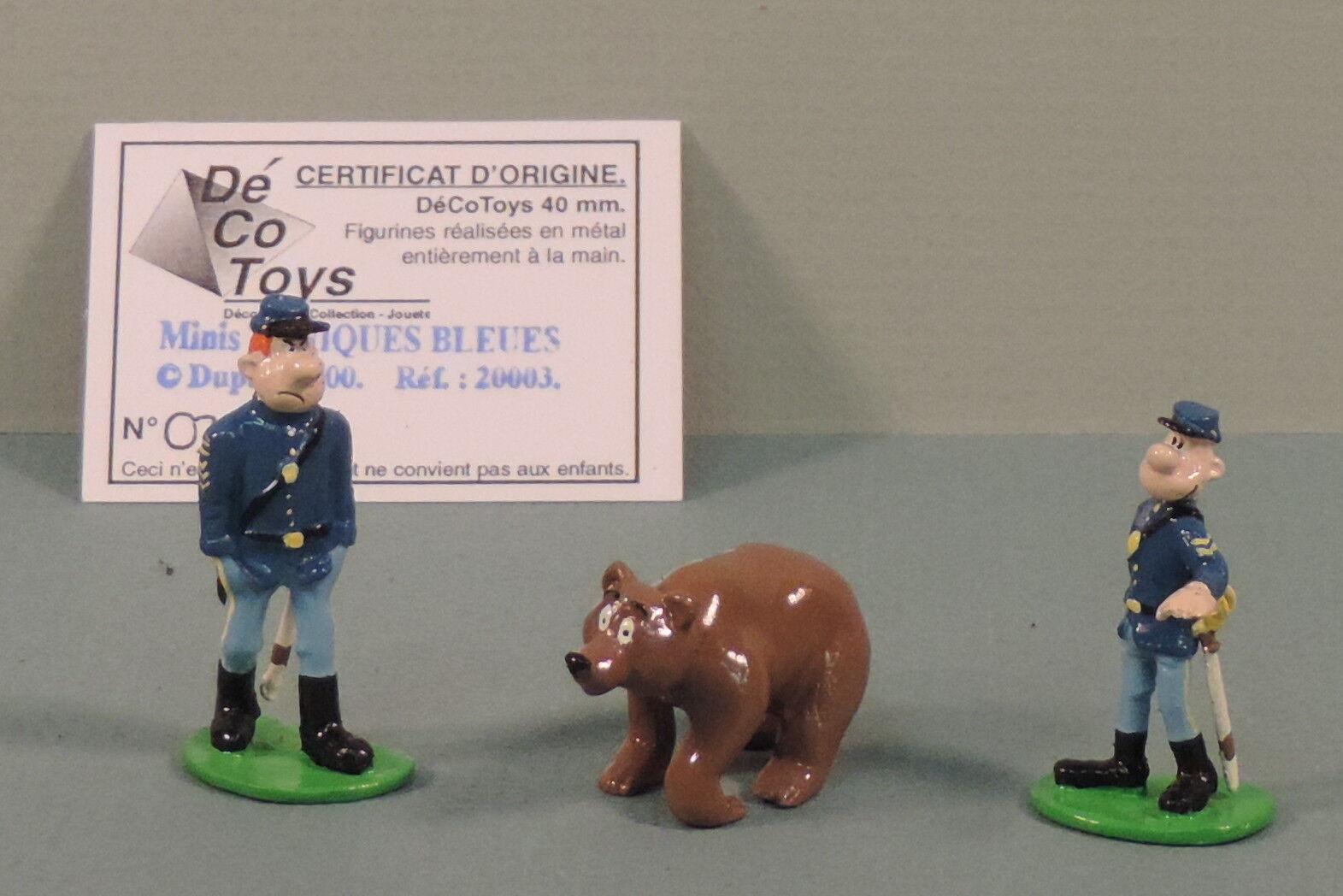 Tuniques bluees et Ours mini mini mini statuette metal Decotoys 20007 numerede 8d79ef